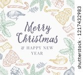 merry christmas and happy new... | Shutterstock .eps vector #1217432983