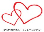 hearts vector. hand drawn icons.... | Shutterstock .eps vector #1217438449