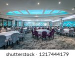 blue ceiling lights and served... | Shutterstock . vector #1217444179
