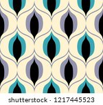 seamless retro pattern in the... | Shutterstock .eps vector #1217445523