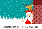 waving hand   santa claus and... | Shutterstock .eps vector #1217452783