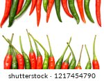 close up chili peppers isolated ... | Shutterstock . vector #1217454790