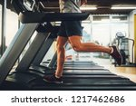 male on treadmill at the gym | Shutterstock . vector #1217462686