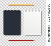 notebook isolated with two... | Shutterstock . vector #1217462980