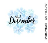 hand sketched december text.... | Shutterstock .eps vector #1217466649