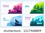 wild life in nature vector... | Shutterstock .eps vector #1217468809