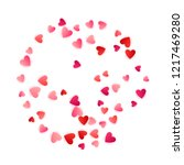 red flying hearts bright love... | Shutterstock .eps vector #1217469280