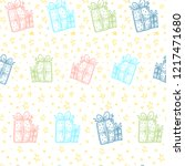 christmas hand drawn pattern...   Shutterstock .eps vector #1217471680
