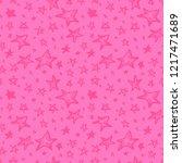 christmas hand drawn pattern...   Shutterstock .eps vector #1217471689