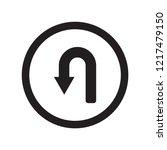 u turn sign icon. trendy u turn ... | Shutterstock .eps vector #1217479150