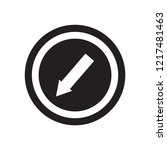 keep left sign icon. trendy... | Shutterstock .eps vector #1217481463