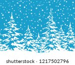 christmas holiday seamless... | Shutterstock .eps vector #1217502796