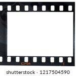 first frame of an old 35mm film ... | Shutterstock . vector #1217504590