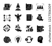 startup glyph icons. project... | Shutterstock .eps vector #1217506309