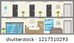 empty two floors of hotel or...   Shutterstock .eps vector #1217510293