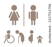 modern toilet signage has man ... | Shutterstock .eps vector #1217511706