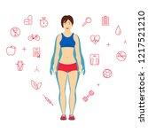 woman body transformation... | Shutterstock .eps vector #1217521210