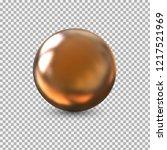 golden ball .abstract metal... | Shutterstock .eps vector #1217521969