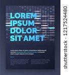 brochure layout template design ... | Shutterstock .eps vector #1217524480