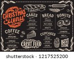 christmas menu template for... | Shutterstock .eps vector #1217525200