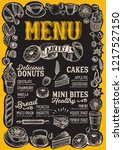 bakery menu template for... | Shutterstock .eps vector #1217527150