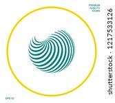 earth logo design with elegant... | Shutterstock .eps vector #1217533126