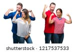 collage of young and mature... | Shutterstock . vector #1217537533