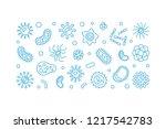 bacteria vector concept blue... | Shutterstock .eps vector #1217542783