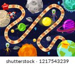 space board game vector... | Shutterstock .eps vector #1217543239