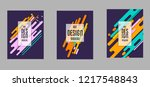 covers templates set with... | Shutterstock .eps vector #1217548843