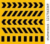 vector cross yellow and black... | Shutterstock .eps vector #1217563369