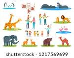 zoo icon set. flat illustration ... | Shutterstock . vector #1217569699