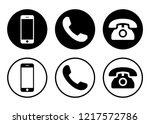 phone icon vector. call icon... | Shutterstock .eps vector #1217572786