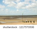 expanded wide low tide seaside... | Shutterstock . vector #1217573530
