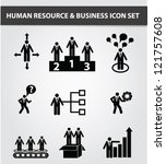 management and human resource... | Shutterstock .eps vector #121757608