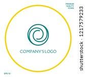 logotype   two spirals in... | Shutterstock .eps vector #1217579233