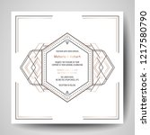 art deco wedding invitation ... | Shutterstock .eps vector #1217580790