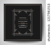 art deco wedding invitation ... | Shutterstock .eps vector #1217581513