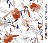 botanical motifs. isolated... | Shutterstock .eps vector #1217583859