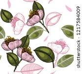 blooming  flowers. realistic... | Shutterstock .eps vector #1217584009