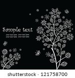 beautiful greeting card  black... | Shutterstock .eps vector #121758700