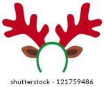 funny christmas reindeer horns | Shutterstock .eps vector #121759486