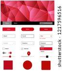 light red vector web ui kit in...