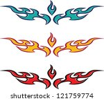 Fire Flame Tattoo Design - stock vector
