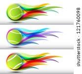 tennis ball set | Shutterstock .eps vector #121760098