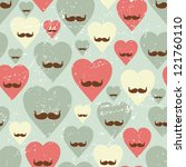 valentine seamless pattern with ... | Shutterstock .eps vector #121760110