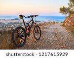 denia alicante from montgo with ...   Shutterstock . vector #1217615929