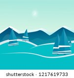 winter landscape with christmas ... | Shutterstock .eps vector #1217619733