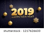 happy new year 2018 background... | Shutterstock .eps vector #1217626633