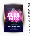 club mix party  music night...   Shutterstock .eps vector #1217631589